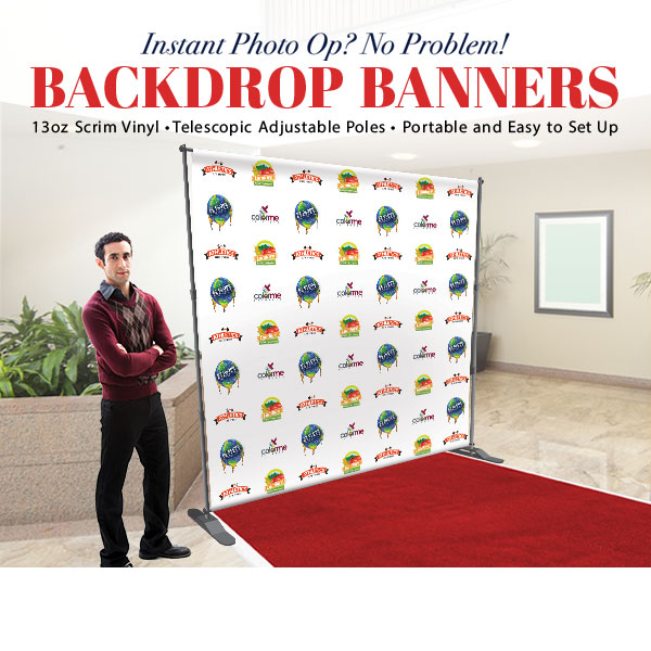 Backdrop Banner With Stand 8ft X 8ft